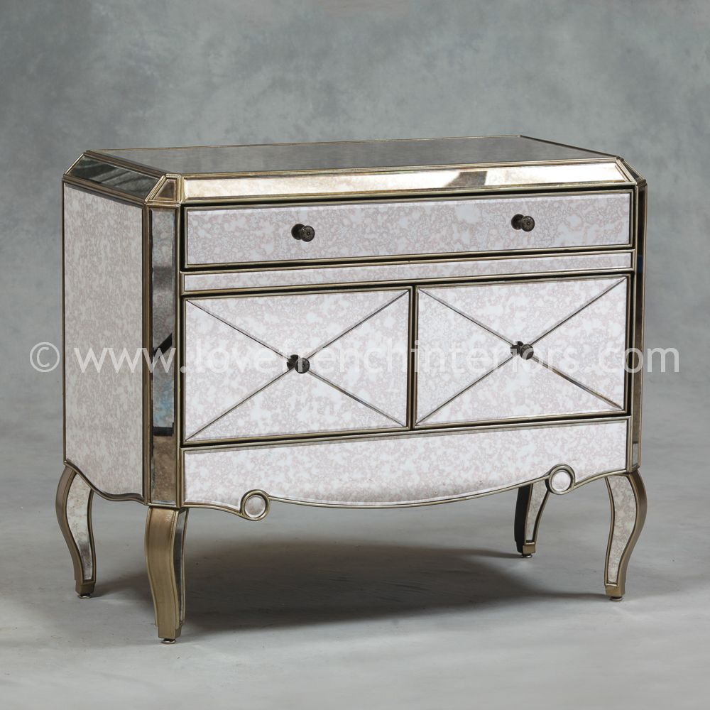 Image of: Antique Mirrored Cabinet
