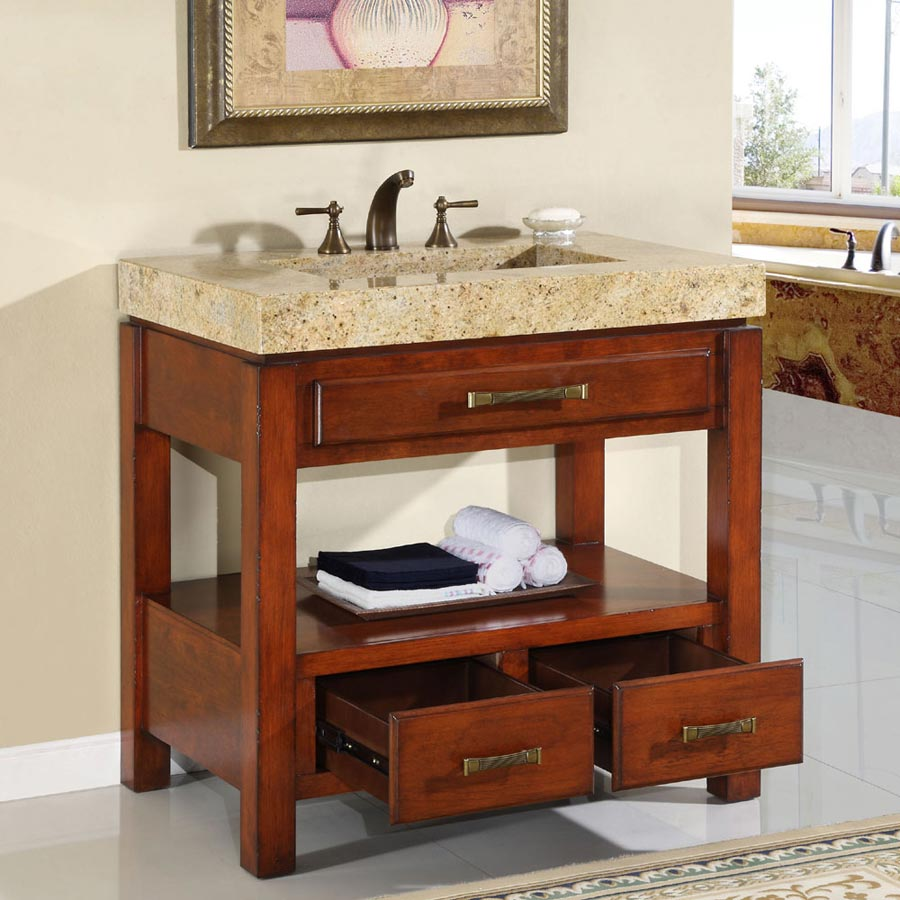 Image of: Bathroom vanity cabinets photo