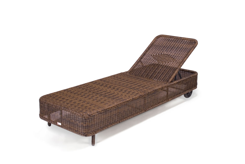 Chelsea Rattan Garden Furniture Sun Lounger