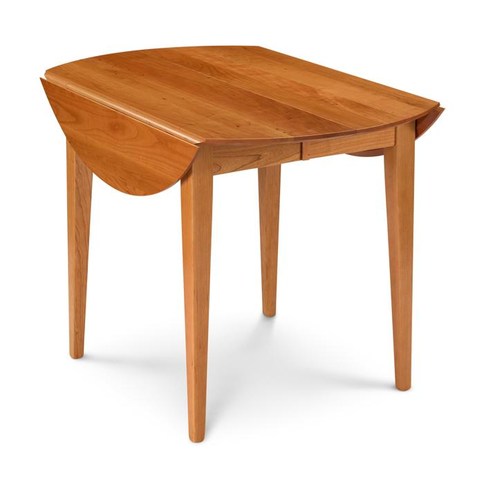 Picture of: Cherry Round Drop Leaf Table