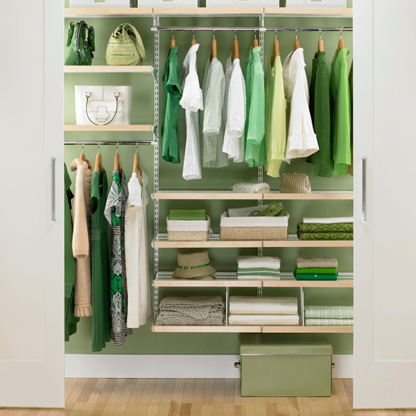 Image of: Closet organizing ideas elegan modern green