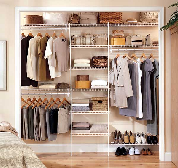 Image of: Closet organizing ideas elegan modern white