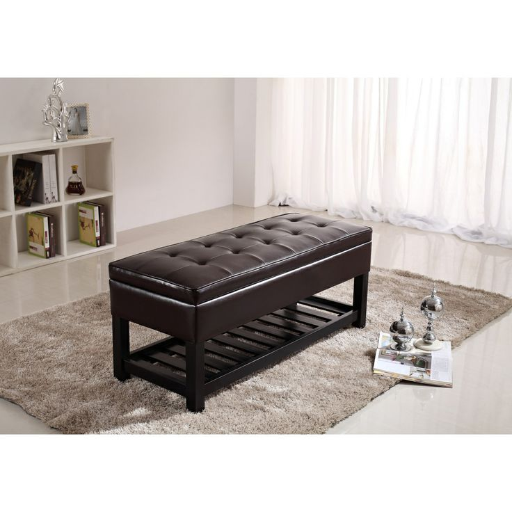 Picture of: Coffee Brown Entryway Storage Bench