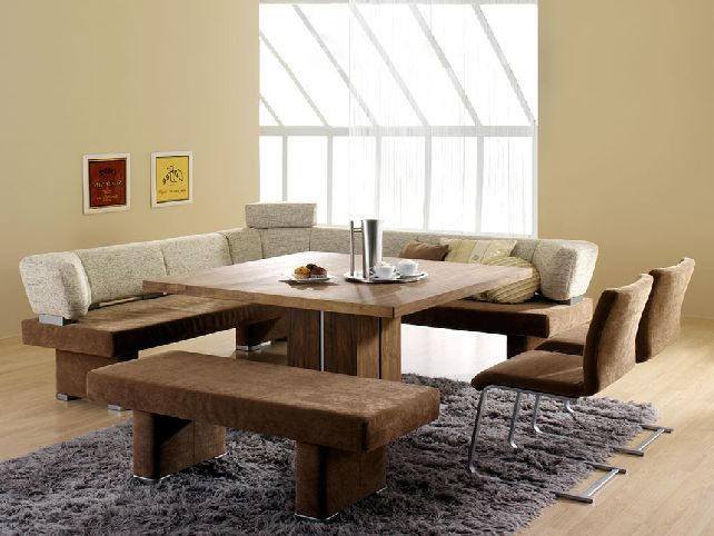 Picture of: Contemporary Dining Table with Bench
