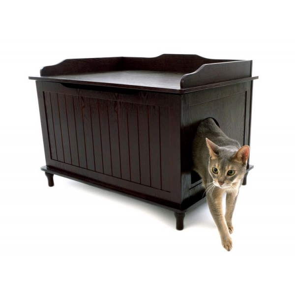 Image of: Dark Litter Box Enclosure