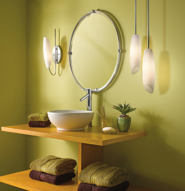 Image of: Decorative lighting modern bathroom