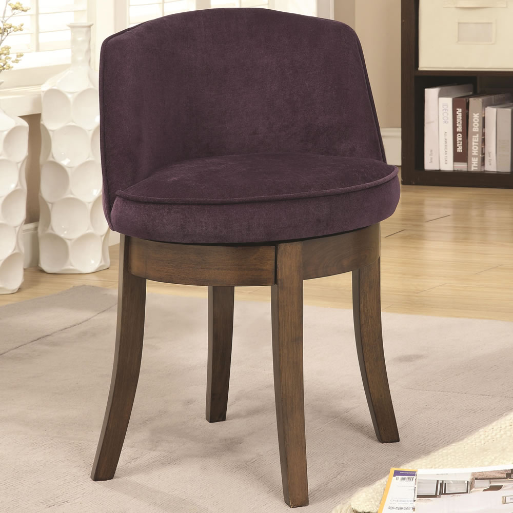 Image of: Eggplant vanity chair