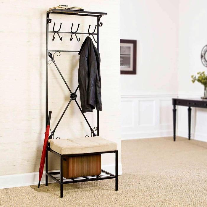 Picture of: Entryway Storage Bench and Coat Rack