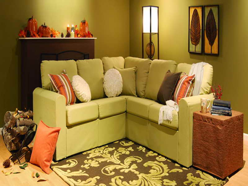 Picture of: Green Small Sectional Sofas