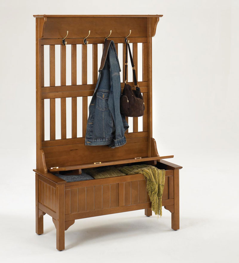 Hall Tree Entryway Storage Bench