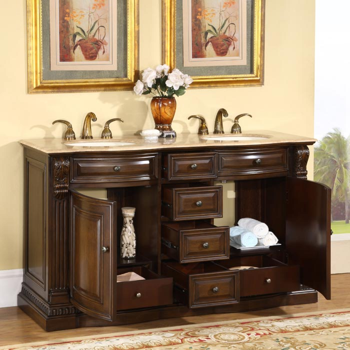 Large size bathroom vanity cabinets