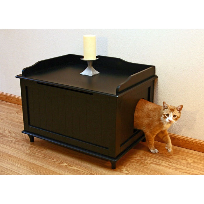 Litter Box Enclosure in Black