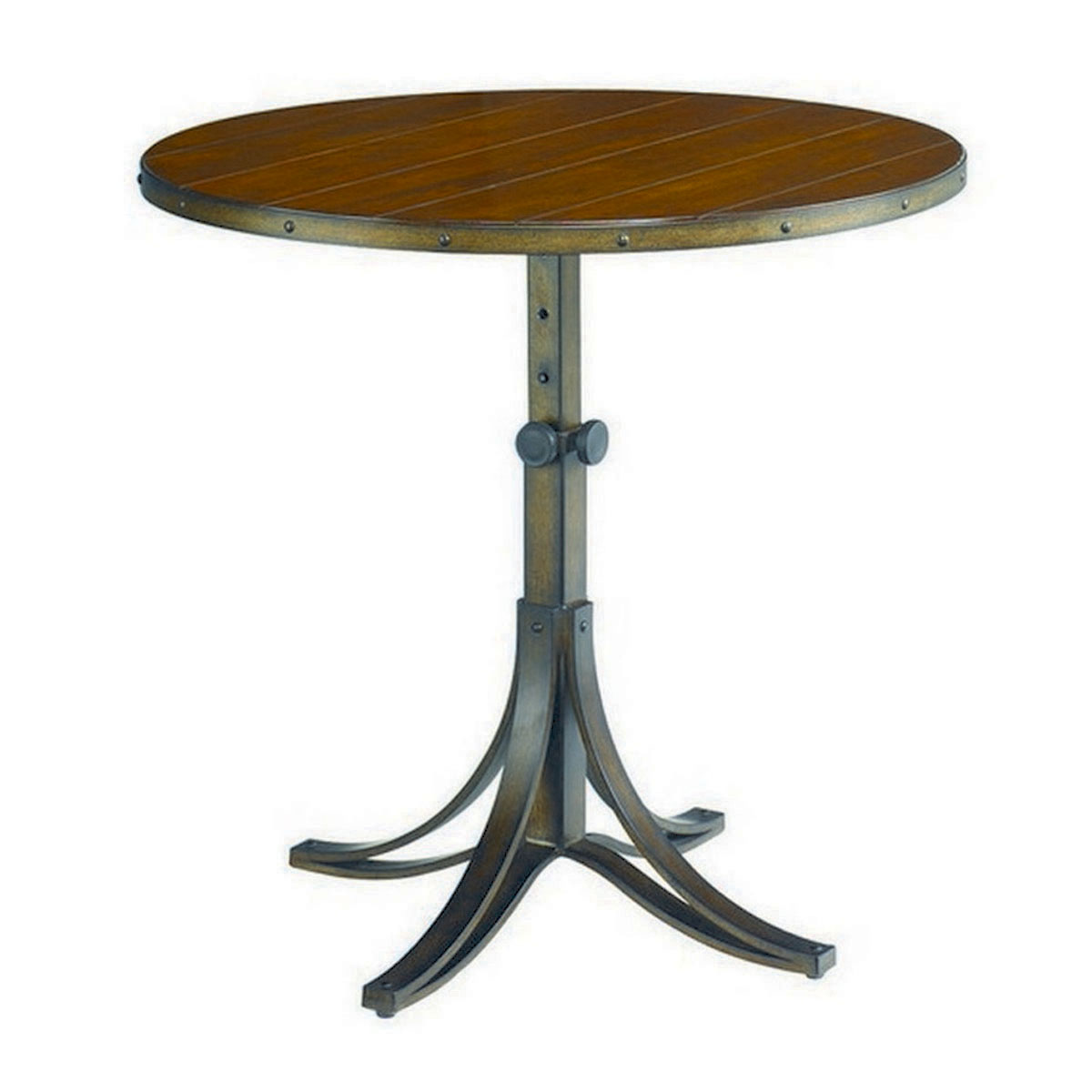 Image of: Mercantile Round Adjustable Accent Table