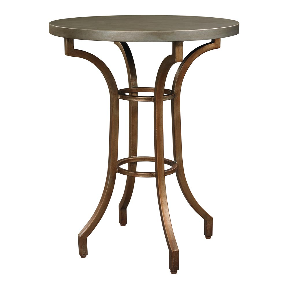 Metallic Round Accent Table