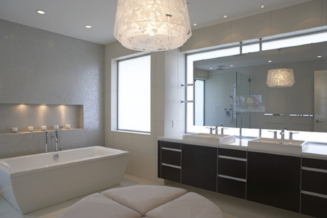 Image of: Beauty Modern Bathroom Lighting Ideas