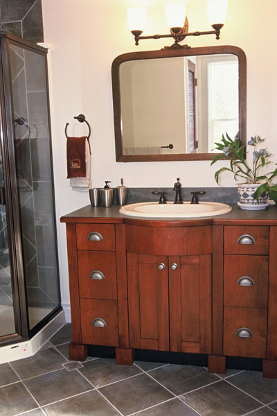 Image of: Modern bathroom vanity cabinets