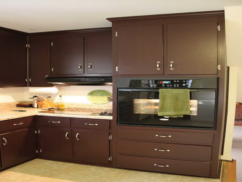 Picture of: Natural Brown kitchen cabinet refinishing
