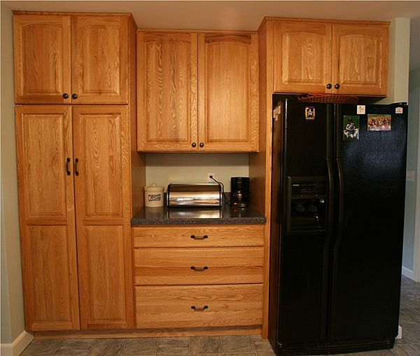 Image of: Oak cabinets picture