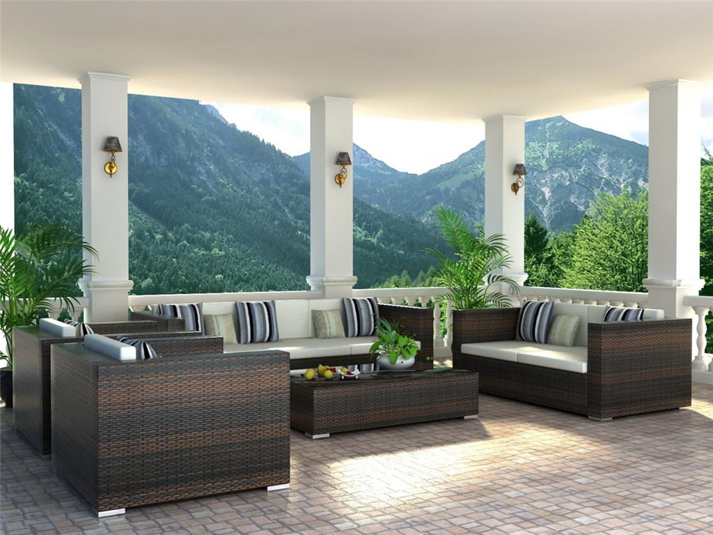 Image of: Outdoor  Rattan Furniture Ideas
