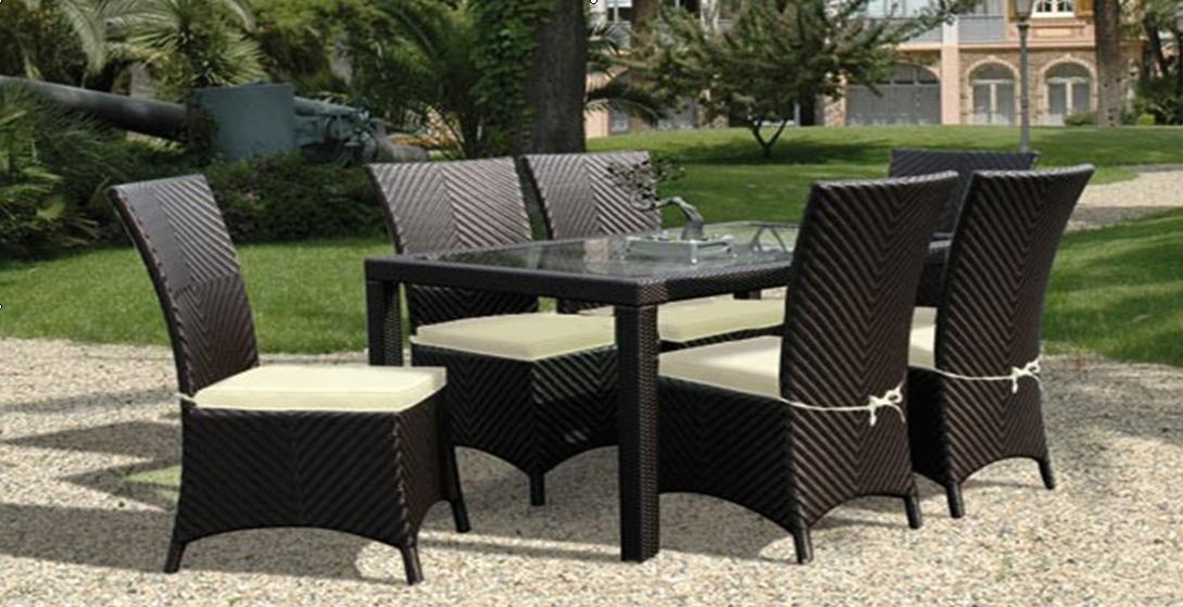Picture of: Rattan Furniture Dining Set