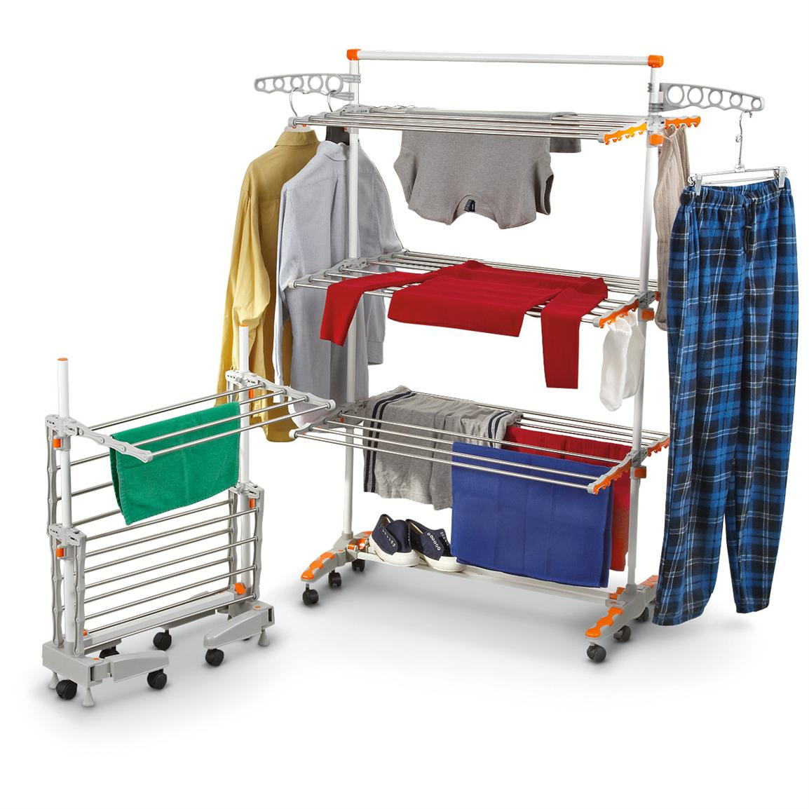 Image of: Stainless steel laundry drying rack