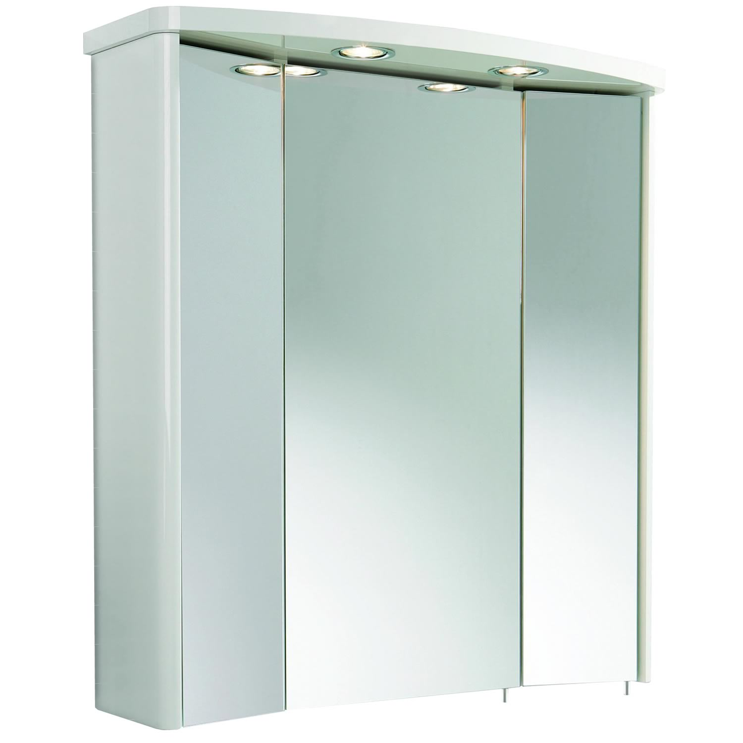 Image of: Top Mirrored Cabinet