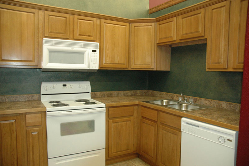Image of: Unfinished Oak cabinets