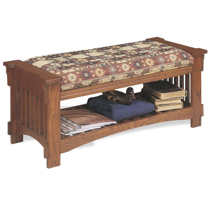 Picture of: Upholstered Entryway Storage Bench