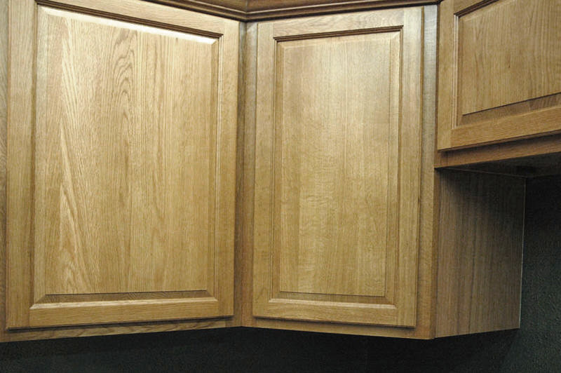 Image of: Vanity Oak cabinets