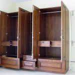 Wardrobe with tall mirror