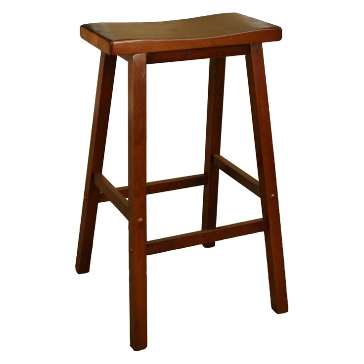 Picture of: Wood Saddle Counter Height Stool