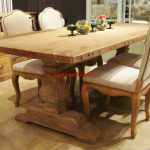 Wooden Trestle Dining Table design elegant images