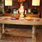Wooden Trestle Dining Table Design Modern