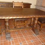 Wooden Trestle Dining Table Design Simple Image