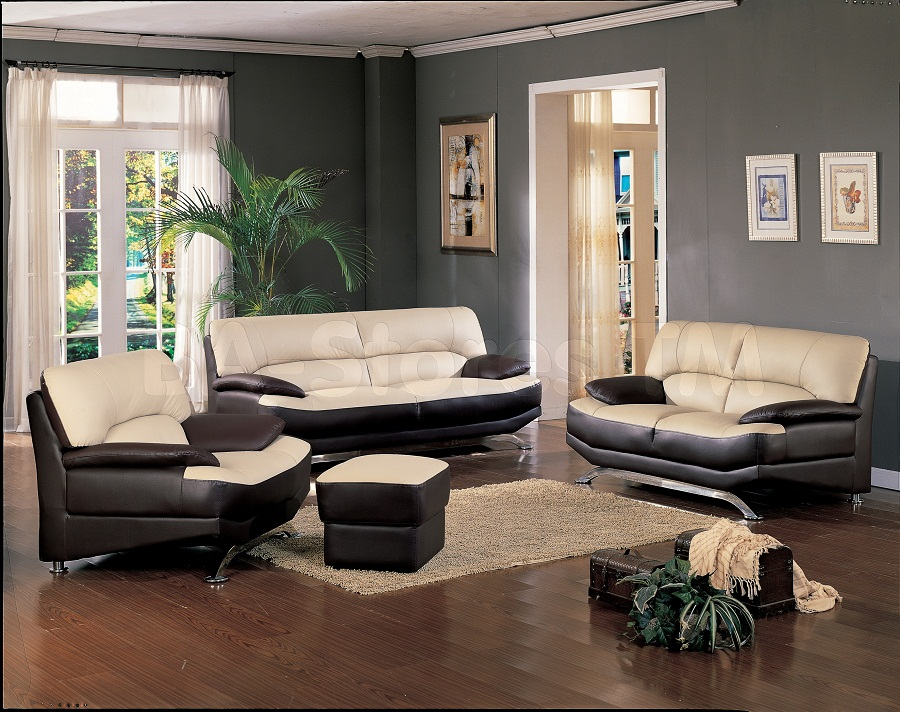 Picture of: alluring leather ottoman