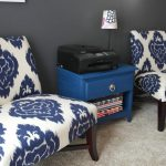 blue accent chair design