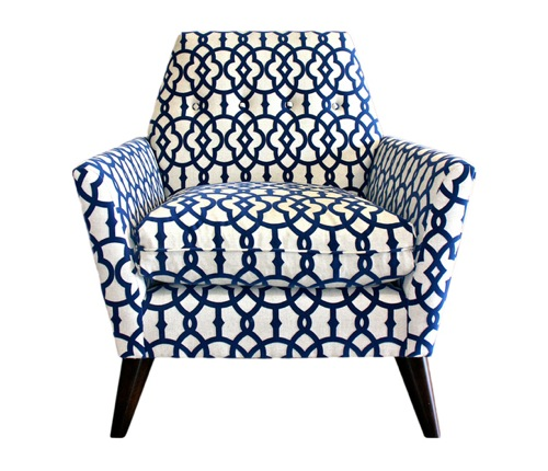 Image of: blue accent chair ideas