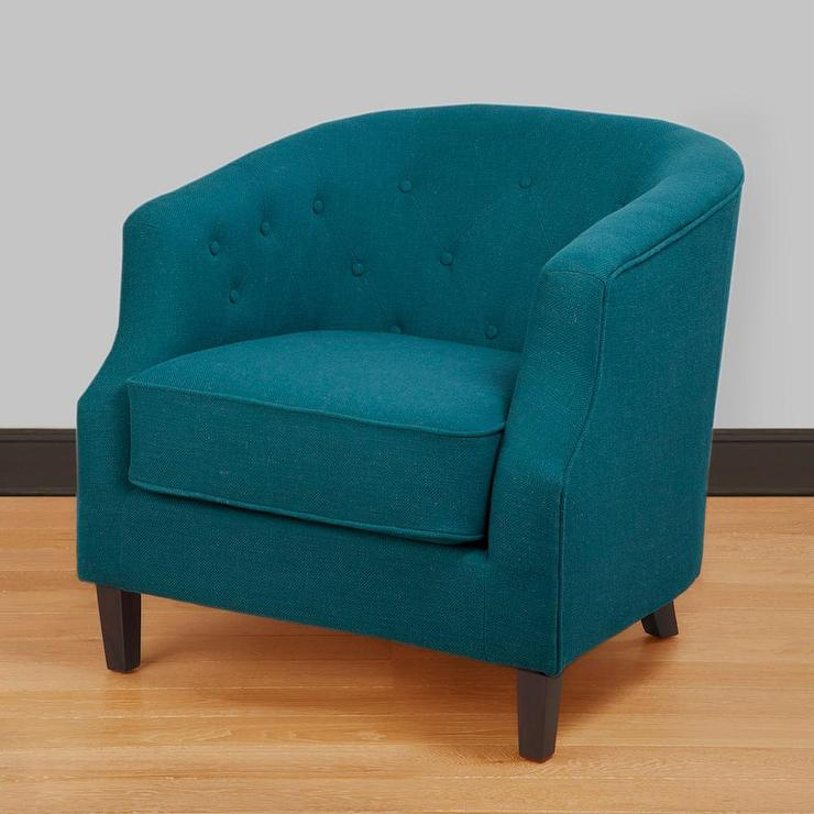 blue accent chair pictures