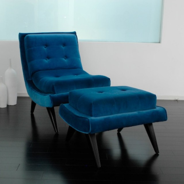 Image of: blue accent chair