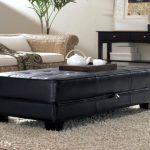 Cheap Black Leather Ottoman