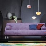 chic purple couch
