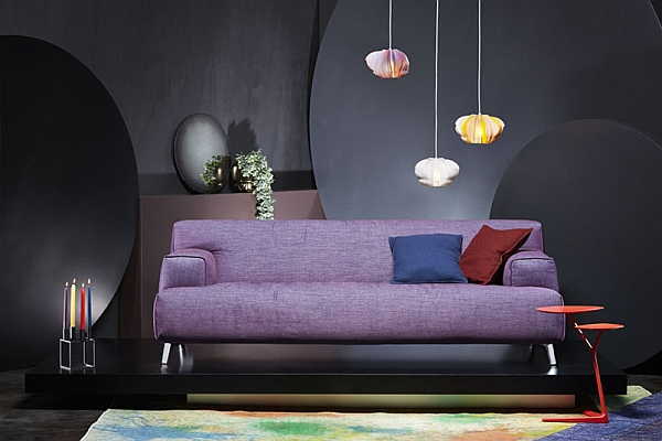 Picture of: chic purple couch