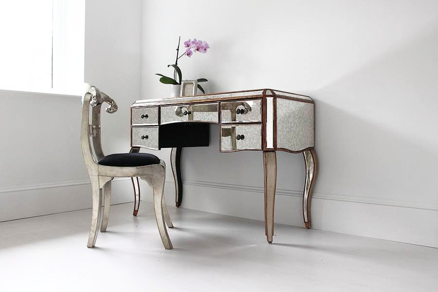 Picture of: console mirrored vanity table ideas