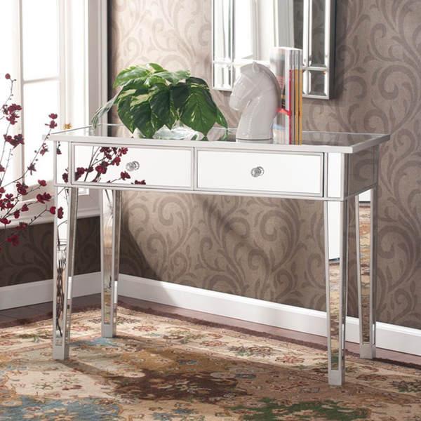 Picture of: console mirrored vanity table