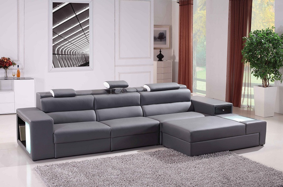Image of: contemporary gray sectional sofa