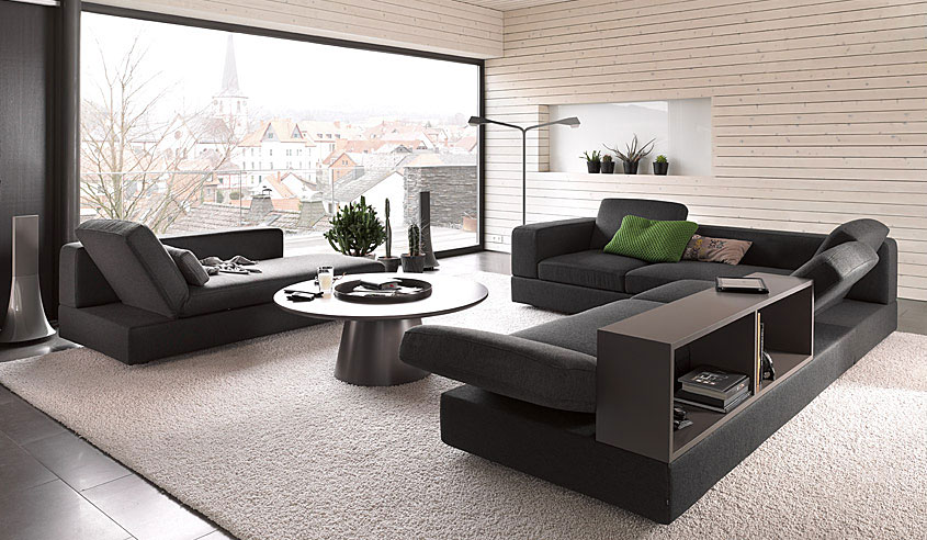 Picture of: contemporary living room sectionals