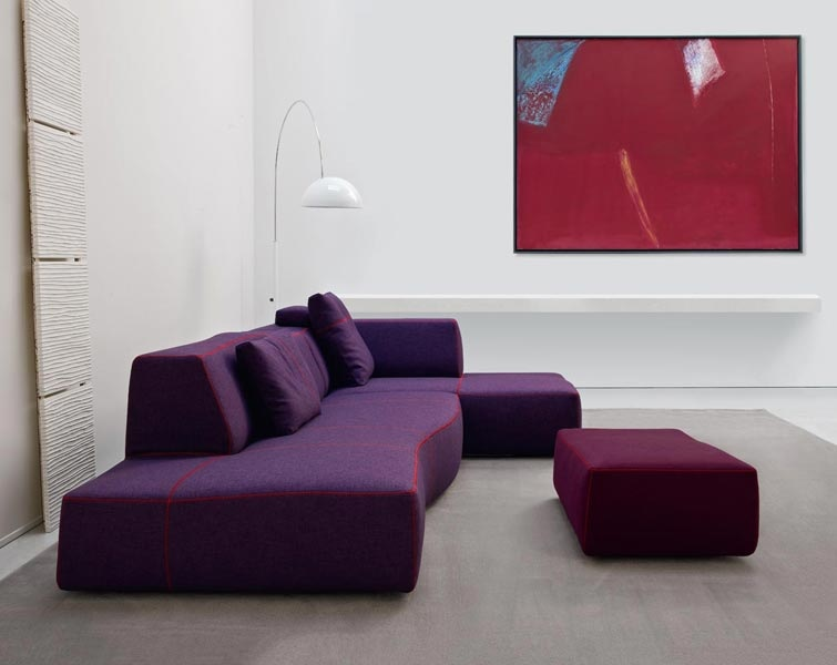 Picture of: contemporary purple couch