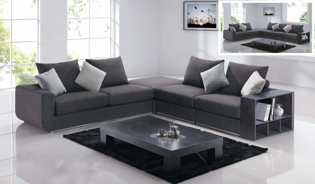 Image of: cozy gray sectional sofa
