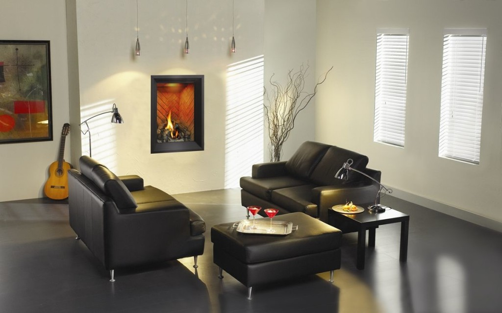 Picture of: decorating room with black leather ottoman