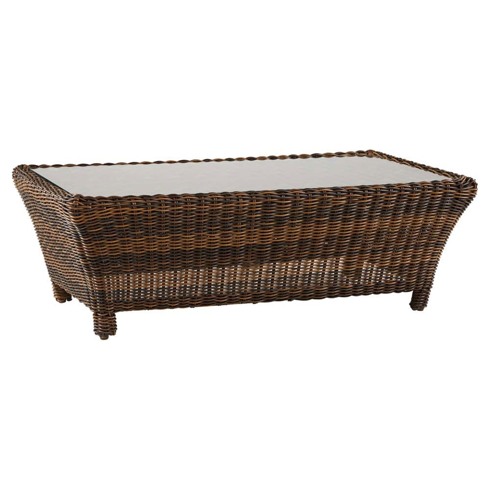 Image of: del ray best wicker coffee table